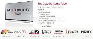 ال ای دی 65 اینچ منحنی سه بعدی LG TV 65UG870تاج بانه