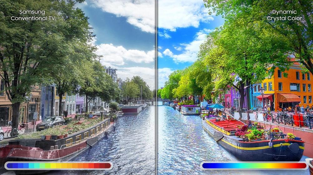 کیفیت تصویر 4K در تلویزیون 65 اینچ 65RU7400 سامسونگ