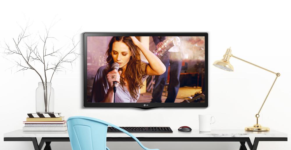 طراحی زیبای تلویزیون ال جی سایز 24 اینچ