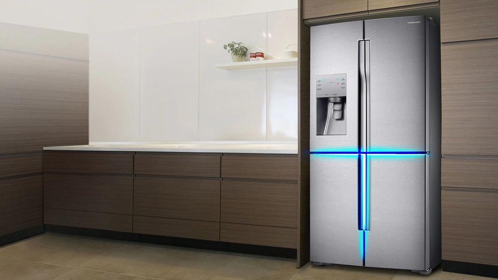 طراحی یخچال ساید بای ساید سامسونگ مدل رومانو RF56